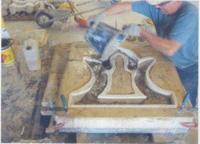 Moulage en ciment utilisé pour la restauration de La Casamaures