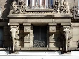 Façade de l'immeuble de l'éléphant