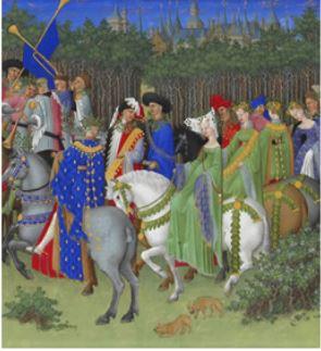 Fête du 1er mai donnée en l'honneur d'un couple Image extraite des ''Riches heures du Duc de Berry''