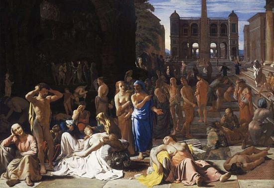 La peste dans une cité antique Peinture de Michael Sweerts (1652)