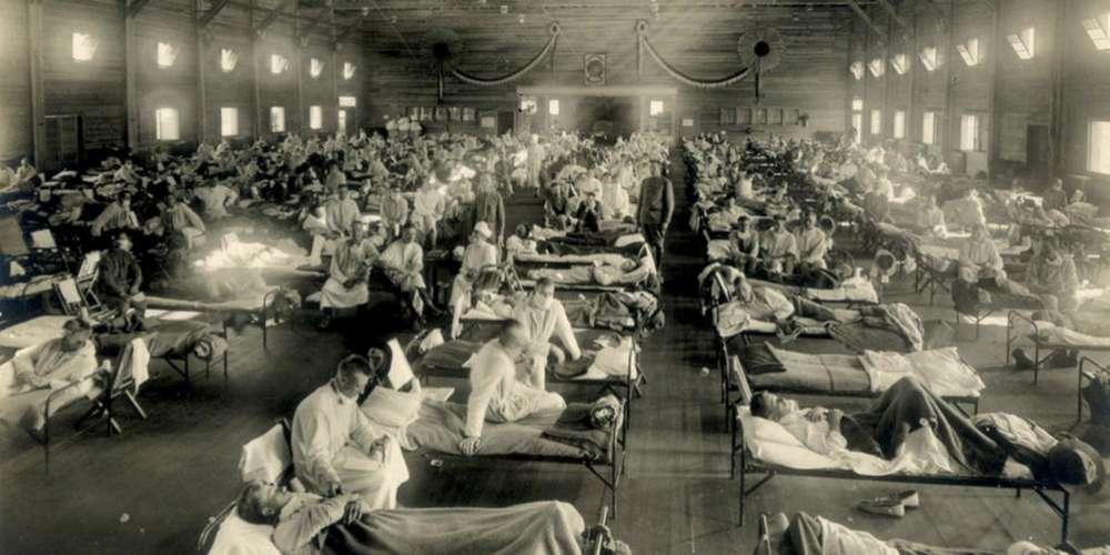 Hôpital au Kensas en 1918 Pendant épidémie de grippe espagnole